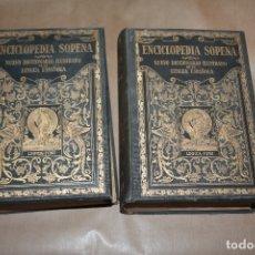 Enciclopedias antiguas: ENCICLOPEDIA SOPENA, NUEVO DICCIONARIO ILUSTRADO DE LA LENGUA ESPAÑOLA, 1933, COMPLETA, 2 TOMOS. Lote 177671783