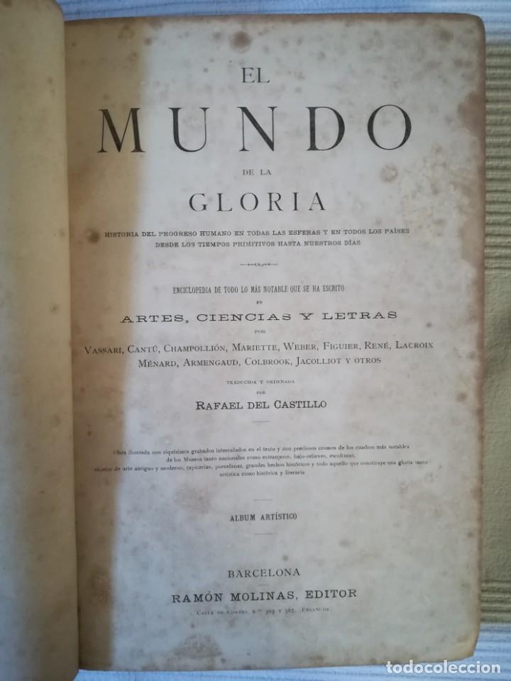 Enciclopedias antiguas: El mundo de la Gloria Tomo 4 (Siglo XIX) - Foto 4 - 177816873
