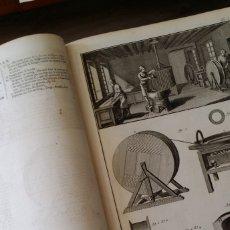 Enciclopedias antiguas: ENCYCLOPÉDIE DIDEROT Y D´ALEMBERT, 1772, TINTORERO, 9 GRABADOS Y 3 HOJAS DE TEXTO. Lote 178110544