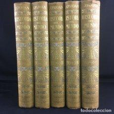 Enciclopedias antiguas: HISTORIA DEL MUNDO-J.PIJOAN- 5 TOMOS-SALVAT-1926-1941. Lote 178718853