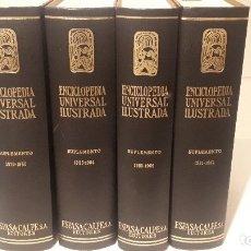 Enciclopedias antiguas: LOTE ESPECIAL,LEER. ENCICLOPEDIA UNIVERSAL ILUSTRADA EUROPEO AMERICANA. Lote 179544481