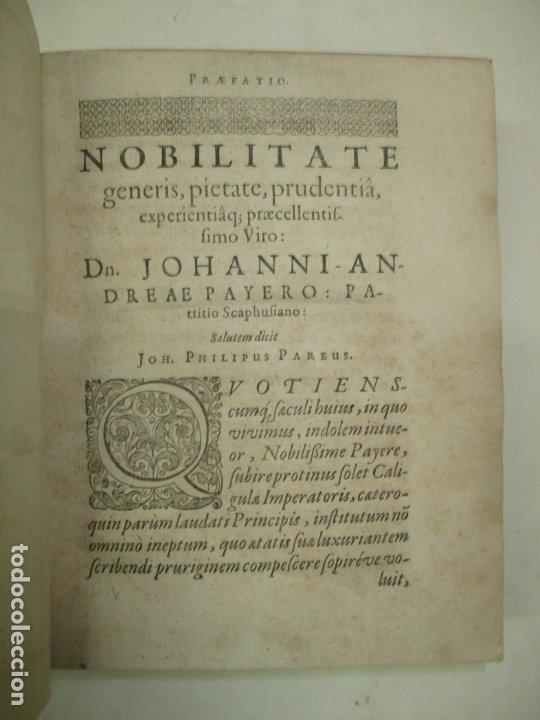 Enciclopedias antiguas: ELECTA PLAUTINA: IN QUIBUS VELUT THESAURO QUODAM ANTIQUITATIS...PAREI, Joh. Philippi. 1617. - Foto 3 - 182401717