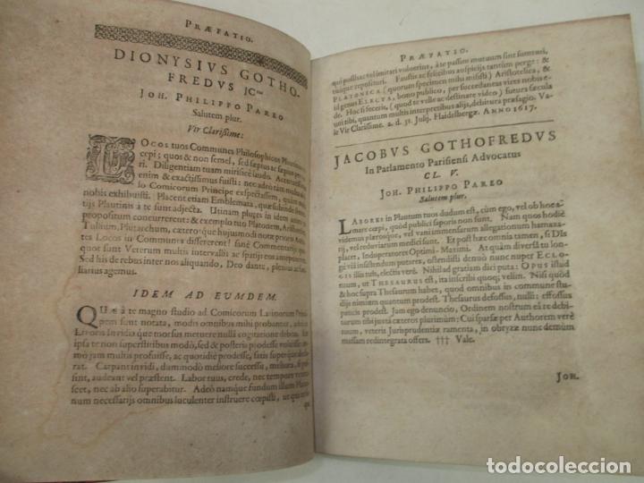 Enciclopedias antiguas: ELECTA PLAUTINA: IN QUIBUS VELUT THESAURO QUODAM ANTIQUITATIS...PAREI, Joh. Philippi. 1617. - Foto 4 - 182401717