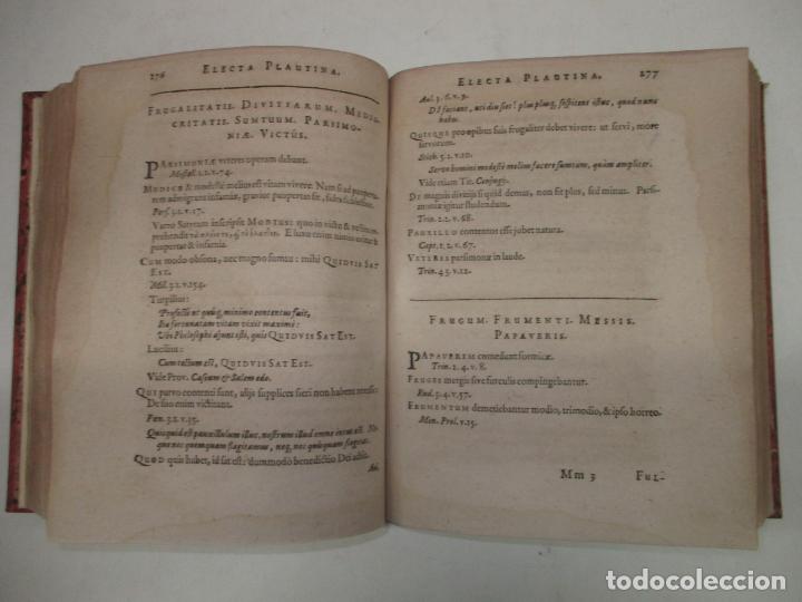 Enciclopedias antiguas: ELECTA PLAUTINA: IN QUIBUS VELUT THESAURO QUODAM ANTIQUITATIS...PAREI, Joh. Philippi. 1617. - Foto 6 - 182401717