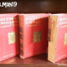 Enciclopedias antiguas: DICCIONARIO ENCICLOPÉDICO DE LA LENGUA CATALANA - 1932. Lote 182795857