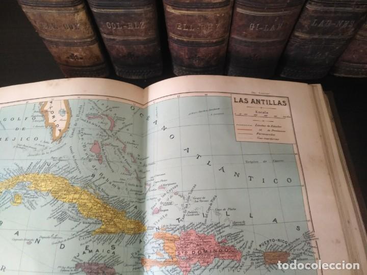 Enciclopedias antiguas: DICCIONARIO SALVAT. ENCICLOPÉDICO POPULAR ILUSTRADO 1906-1914. PRIMERA EDICIÓN, 10 TOMOS. - Foto 8 - 184458665