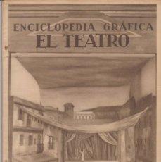 Enciclopedias antiguas: ENCICLOPEDIA GRÁFICA -- EL TEATRO. Lote 187485206
