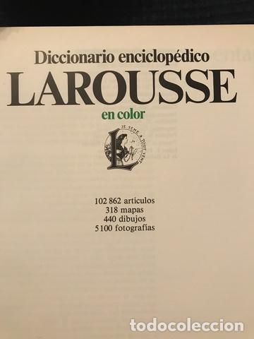 Enciclopedias antiguas: 1983 ENCICLOPEDIA DICCIONARIO LAROUSSE - Foto 2 - 189916093