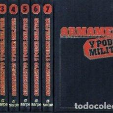 Enciclopedias antiguas: ARMAMENTO Y PODER MILITAR. 7 TOMOS. (E. SARPE) - A-HM-1177. Lote 191003110