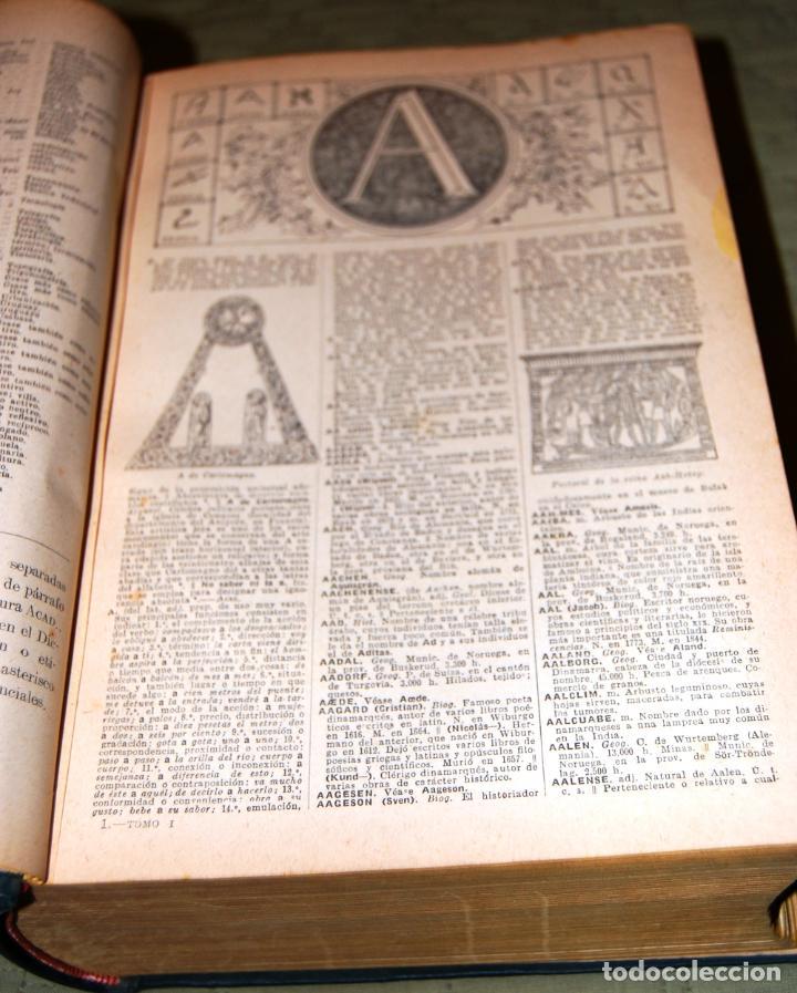 Enciclopedias antiguas: ENCICLOPEDIA SOPENA, NUEVO DICCIONARIO ILUSTRADO DE LA LENGUA ESPAÑOLA. 2 TOMOS, AÑO 1933. - Foto 3 - 191287471