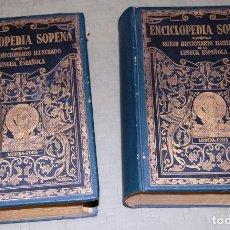 Enciclopedias antiguas: ENCICLOPEDIA SOPENA, NUEVO DICCIONARIO ILUSTRADO DE LA LENGUA ESPAÑOLA. 2 TOMOS, AÑO 1933.. Lote 191287471