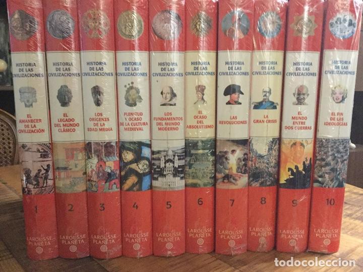 LOTE 10 ENCICLOPEDIAS - HISTORIA DE LAS CIVILIZACIONES-LAROUSSE PLANETA -PRECINTADAS (Libros Antiguos, Raros y Curiosos - Enciclopedias)