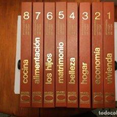 Enciclopedias antiguas: ENCICLOPEDIA CARROGGIO DEL HOGAR ,LOTE 8 TOMOS ,NUEVA. Lote 194900778