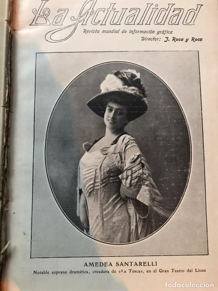Enciclopedias antiguas: Revista la actualidad tomó correspondiente al año 1910 - Foto 2 - 196094087