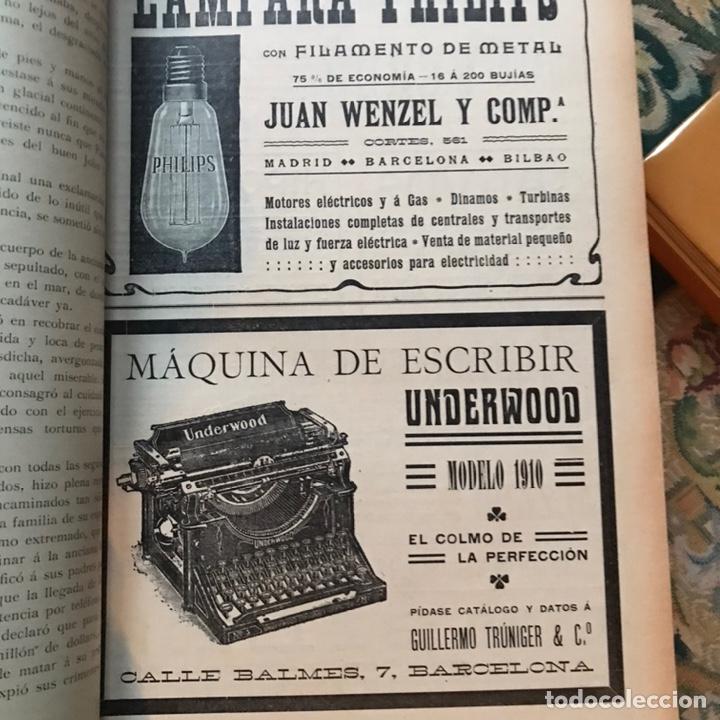Enciclopedias antiguas: Revista la actualidad tomó correspondiente al año 1910 - Foto 4 - 196094087