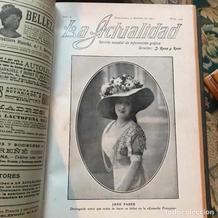 Enciclopedias antiguas: Revista la actualidad tomó correspondiente al año 1910 - Foto 8 - 196094087