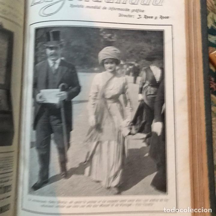 Enciclopedias antiguas: Revista la actualidad tomó correspondiente al año 1910 - Foto 9 - 196094087