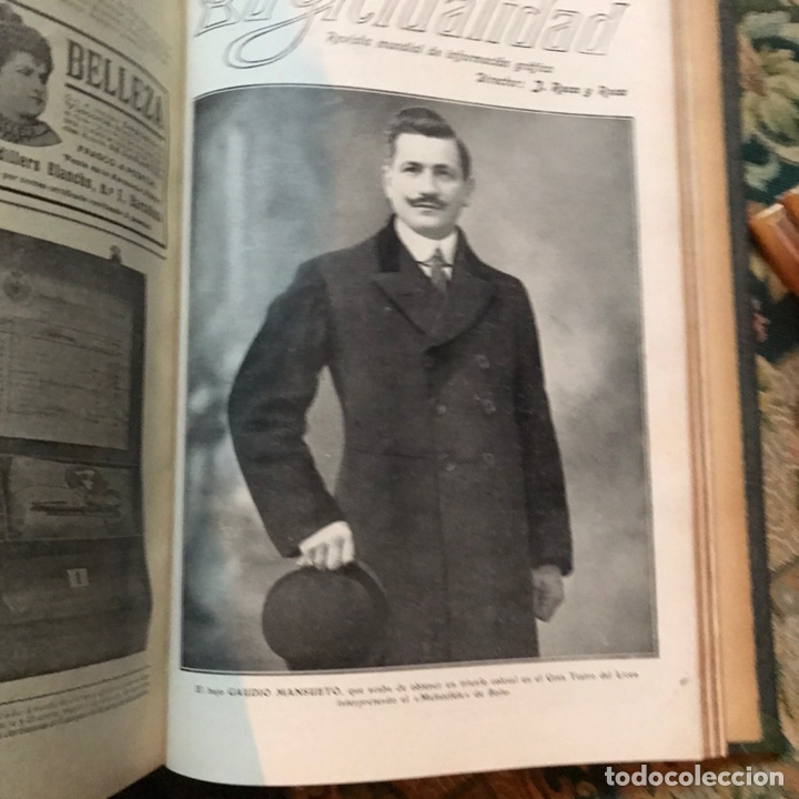 Enciclopedias antiguas: Revista la actualidad tomó correspondiente al año 1910 - Foto 10 - 196094087