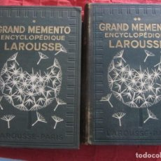 Enciclopedias antiguas: GRAND MEMENTO ENCYCLOPEDIQUE LAROUSSE. 2 VOLÚMENES. 1936 EN FRANCES. Lote 197161157