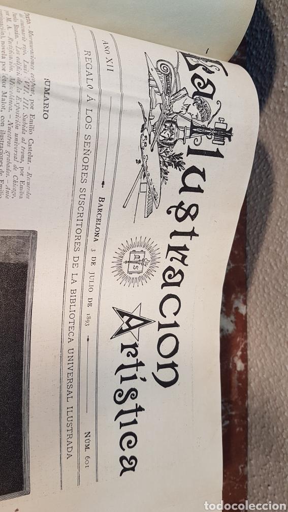 Enciclopedias antiguas: LA ILUSTRACIÓN ARTISTICA. AÑO XII. BARCELONA, DESDE 3 Jul. - 25 Dic. 1893. TOMO 2 - Foto 4 - 197559512