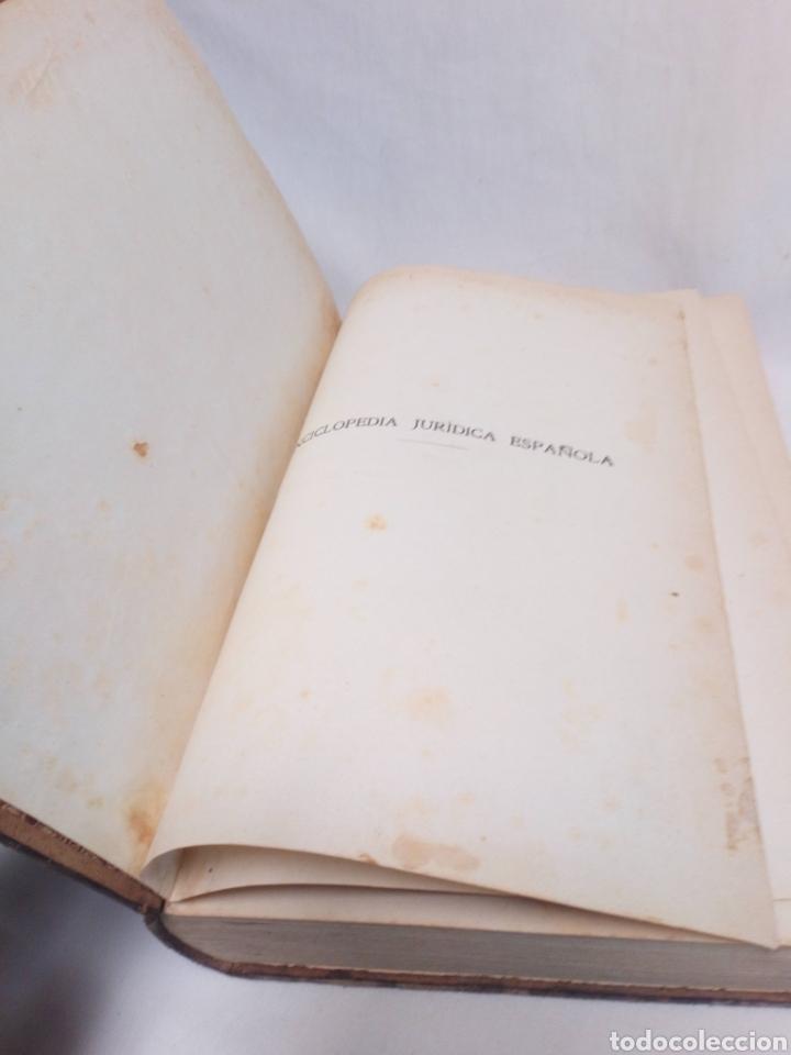 Enciclopedias antiguas: Apéndice enciclopedia jurídica española Francisco Seix editor 1912 - Foto 2 - 197607076
