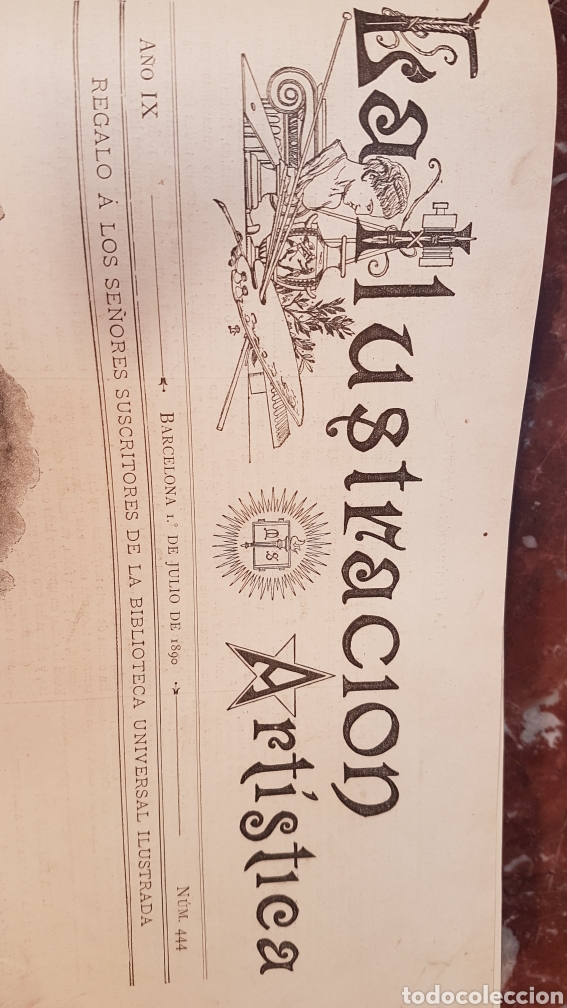 Enciclopedias antiguas: LA ILUSTRACIÓN ARTISTICA. AÑO IX. BARCELONA, DESDE 1 DE JULIO, NUM. 444, A 29 DE DIC. 1890.NUM.470. - Foto 5 - 197626198