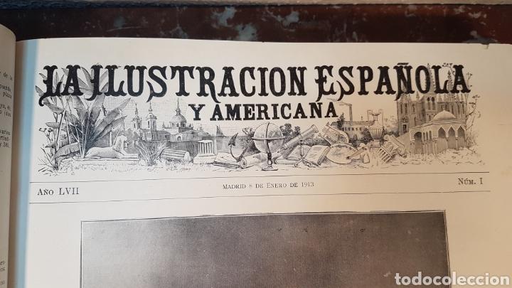 Enciclopedias antiguas: LA ILUSTRACIÓN ESPAÑOLA Y AMERICANA. AÑO LVII MADRID, DESDE 8 DE ENERO, NUM. I, A 30 DE JUNIO 1913 - Foto 6 - 197634571