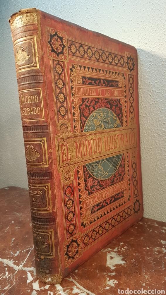 Enciclopedias antiguas: EL MUNDO ILUSTRADO. Biblioteca Ilustrada de Espasa y Cía. Barcelona - finales siglo XIX - Foto 3 - 197660240
