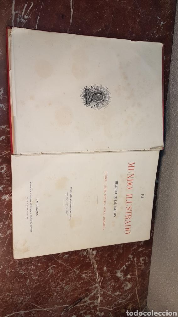 Enciclopedias antiguas: EL MUNDO ILUSTRADO. Biblioteca Ilustrada de Espasa y Cía. Barcelona - finales siglo XIX - Foto 4 - 197660240