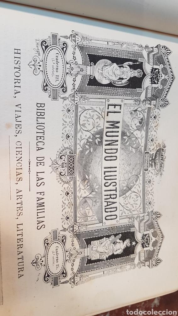 Enciclopedias antiguas: EL MUNDO ILUSTRADO. Biblioteca Ilustrada de Espasa y Cía. Barcelona - finales siglo XIX - Foto 6 - 197660240