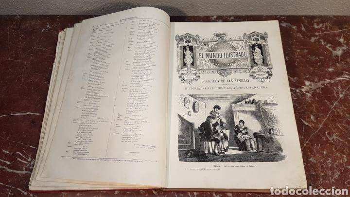 Enciclopedias antiguas: EL MUNDO ILUSTRADO. Biblioteca Ilustrada de Espasa y Cía. Barcelona - finales siglo XIX - Foto 8 - 197660240