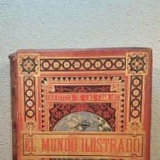 Enciclopedias antiguas: EL MUNDO ILUSTRADO. BIBLIOTECA ILUSTRADA DE ESPASA Y CÍA. BARCELONA. AÑO 1880.. Lote 197665501