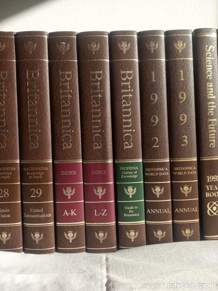 Enciclopedias antiguas: Gran enciclopedia Británica. 47 volúmenes. Años 90. Inglés. - Foto 7 - 197842716
