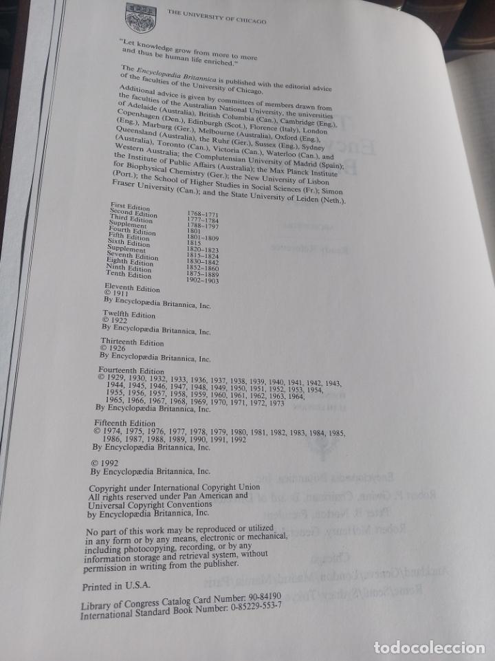 Enciclopedias antiguas: Gran enciclopedia Británica. 47 volúmenes. Años 90. Inglés. - Foto 13 - 197842716