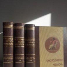 Enciclopedias antiguas: ENCYCLOPÉDIE MÉDICO CHIRURGICALE OTO-RHINO LARYNGOLOGIE.3 TOMOS. LAFFONT, A. P. COMITÉ SCIENTIFIQUE.. Lote 197843958