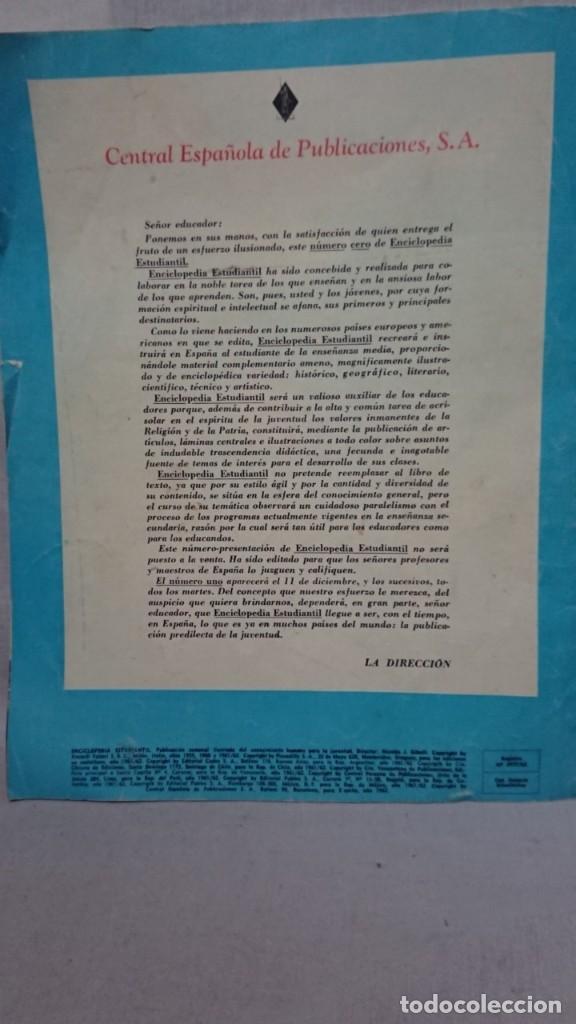 Enciclopedias antiguas: ENCICLOPEDIA ESTUDIANTIL N° 0 AÑO I - 27 NOVIEMBRE 1962 - Foto 3 - 198340855