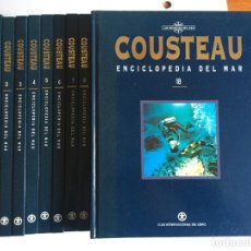 Enciclopedias antiguas: ENCICLOPEDIA DEL MAR DE COUSTEAU,LOS SECRETOS DEL MAR,CLUB INTERNACIONAL DEL LIBRO 18 TOMOS COMPLETA. Lote 198775293