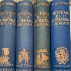 Enciclopedias antiguas: HISTÒRIA DE LA LITERATURA CATALANA. Lote 199477517