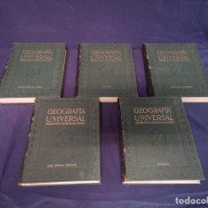 Enciclopedias antiguas: ENCICLOPEDIA DE CINCO TOMOS GEOGRAFIA UNIVERSAL. Lote 199652938