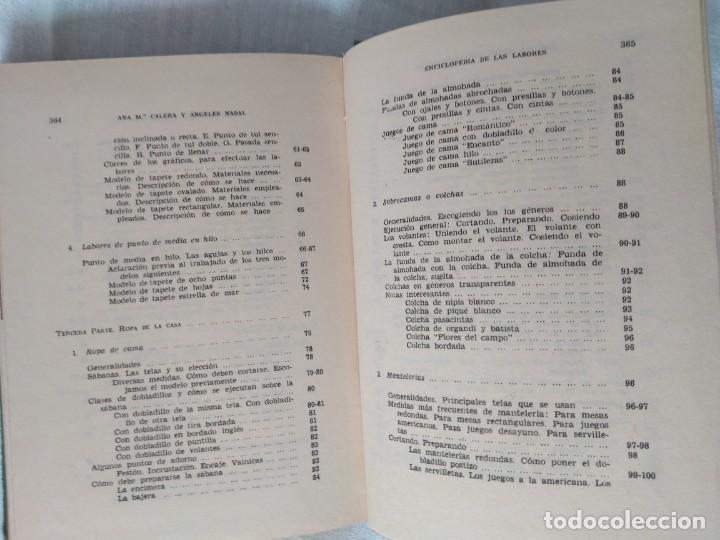 Enciclopedias antiguas: ENCICLOPEDIA DE LAS LABORES. ANA M. CALERA EDIT. GASSO, BARCELONA 1960 - Foto 6 - 184232527