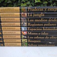 Enciclopedias antiguas: LOS ANIMALES, PROTAGONISTAS DE NUESTRA TIERRA - EDICIONES RUEDA - 9 TOMOS. Lote 204987027