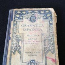 Enciclopedias antiguas: GRAMÁTICA ESPAÑOLA. Lote 206872072