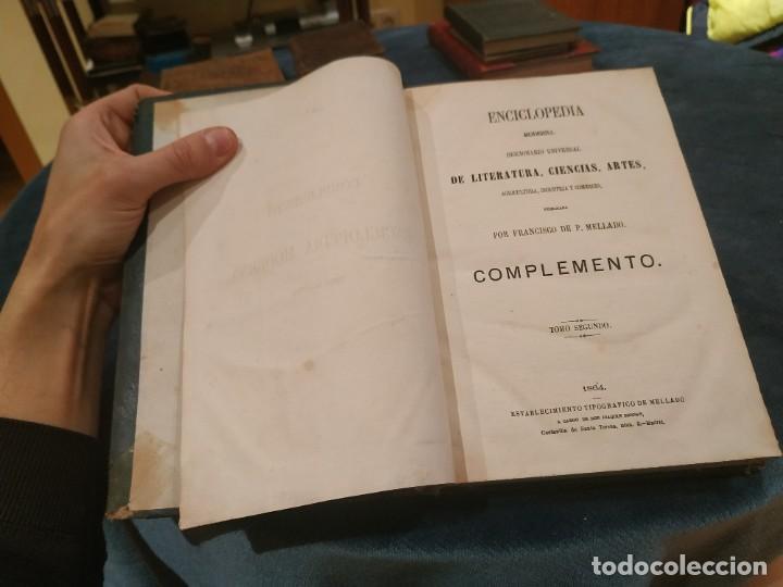Enciclopedias antiguas: 1864. ENCICLOPEDIA MODERNA DICCIONARIO UNIVERSAL DE LITERATURA,CIENCIAS...Mellado Complemento T. II - Foto 2 - 208211015