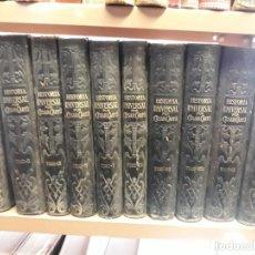 Enciclopedias antiguas: HISTORIA UNIVERSAL POR CESAR CANTU EDIT. FRANCISCO SEIX 10 TOMOS COMPLETA. Lote 209215503