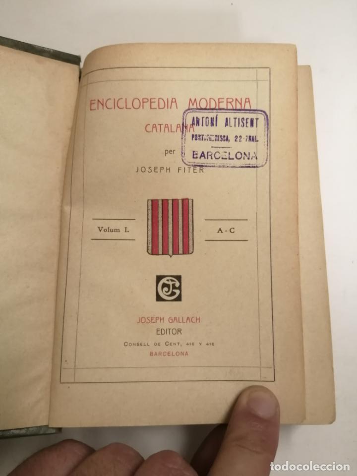 Enciclopedias antiguas: Enciclopedia moderna catalana. Joseph Fiter. 5 volums. Ed.: Joseph Gallach. 1913 Barcelona - Foto 3 - 212616430