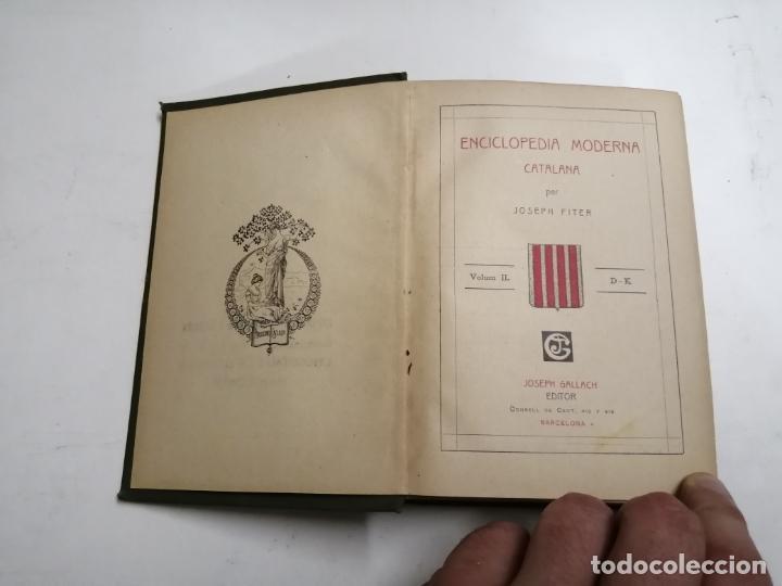 Enciclopedias antiguas: Enciclopedia moderna catalana. Joseph Fiter. 5 volums. Ed.: Joseph Gallach. 1913 Barcelona - Foto 12 - 212616430