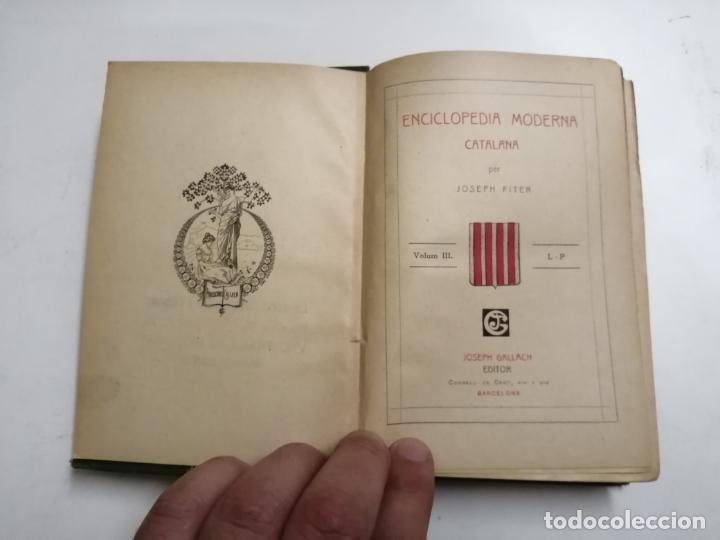 Enciclopedias antiguas: Enciclopedia moderna catalana. Joseph Fiter. 5 volums. Ed.: Joseph Gallach. 1913 Barcelona - Foto 19 - 212616430