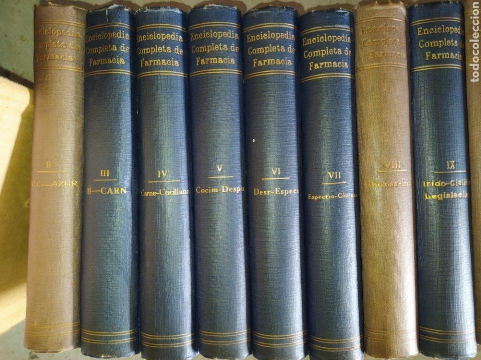 Enciclopedias antiguas: 14 tomos de la enciclopedia farmacéutica, de 1916. - Foto 2 - 212986062