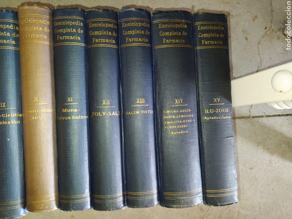 Enciclopedias antiguas: 14 tomos de la enciclopedia farmacéutica, de 1916. - Foto 3 - 212986062