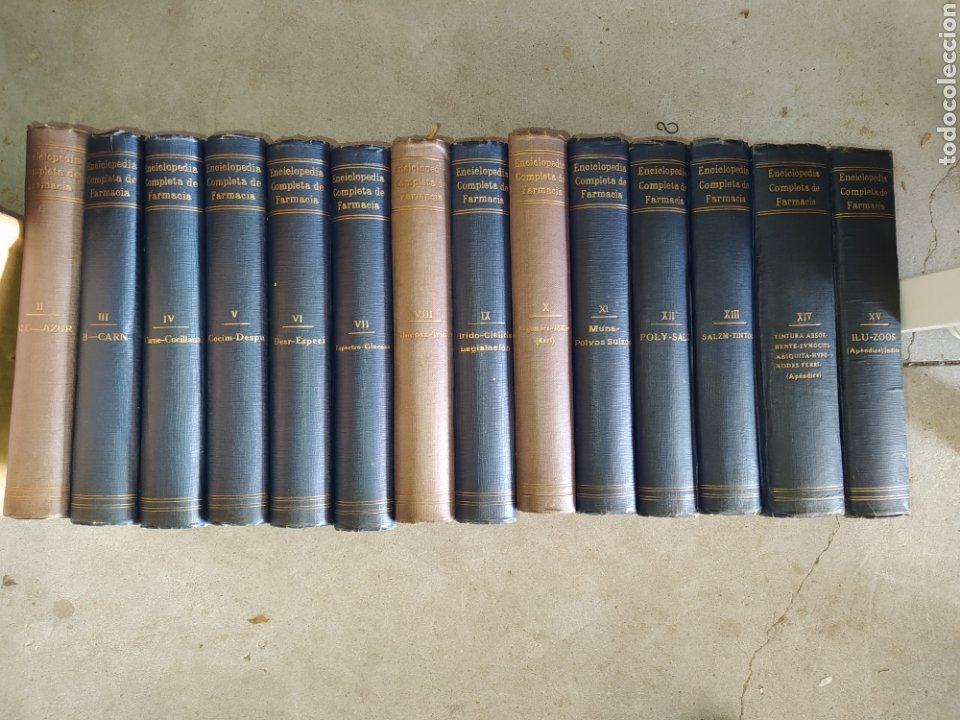 14 TOMOS DE LA ENCICLOPEDIA FARMACÉUTICA, DE 1916. (Libros Antiguos, Raros y Curiosos - Enciclopedias)